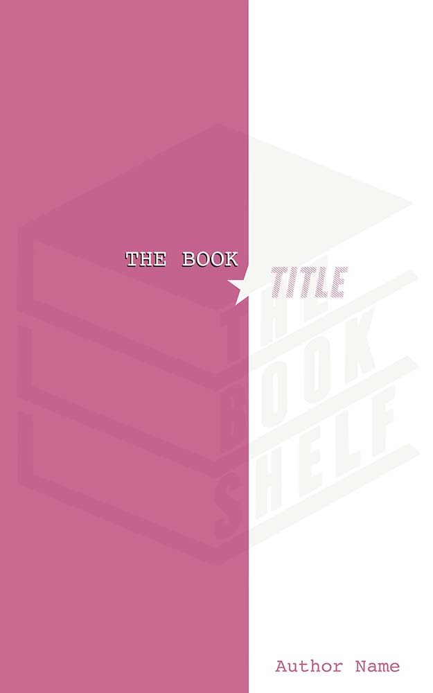 Pink and White Split Cover